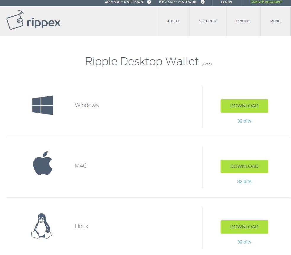 Ripple Wallet einrichten
