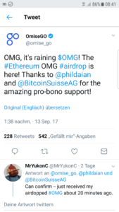OmiseGo Airdrop News